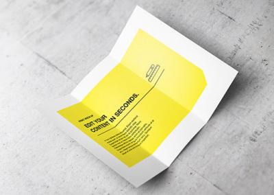 Leaflet, dépliant 2 volets