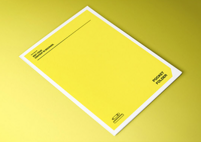 Flyer monochrome impression jaune et noir