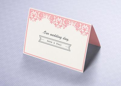 Impression de cartons d'invitations et de cartes de courtoisie